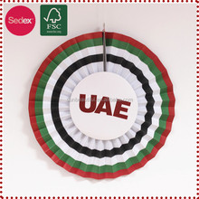 Paper fan as graduation/back to school party decoration