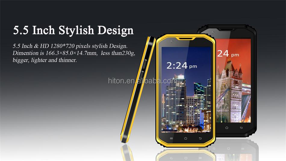 cheapest Highton 4G 5.5inch android 2GB 16GB rugged mobile phone and rugged cellphone with GPS FM IP68 Android