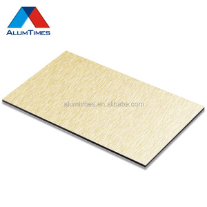 2mm 3mm 4mm 5mm 6mm brushed exterior interior wall panel,gold/silver brushed design acp