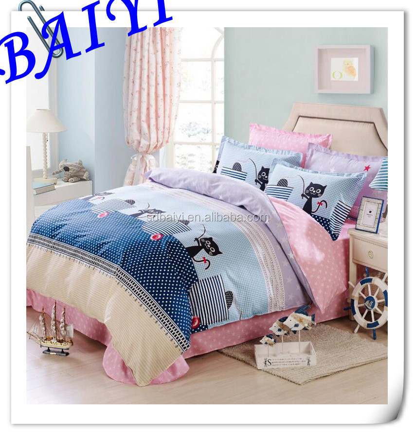 wholesale <strong>cheap</strong> polyester custom printed fabric for making bed sheets