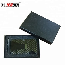 RFID aluminum credit card holder minimalist aluminum <strong>wallet</strong> carbon fiber money clip <strong>wallet</strong>