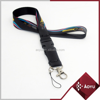 decorative durable badge holder lanyard with detachable buckle and phone string