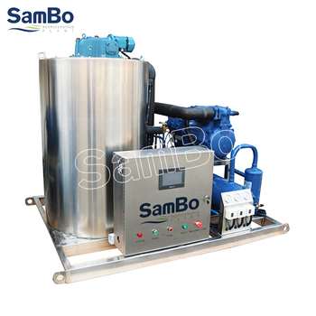 SamBo Keep Fish Fresh 5Tons Commercial Salt Water Flake Ice Maker Used For Fishing Boat