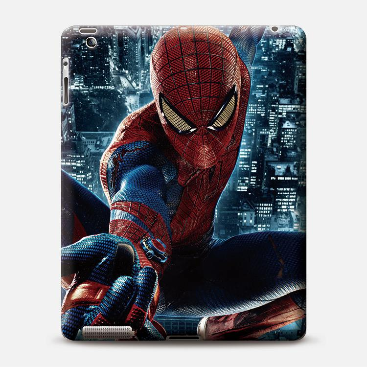 Spider-man design hard plastic PC print on mobile shell drop shipping Custom hot cell cover case for ipad Alibaba China market