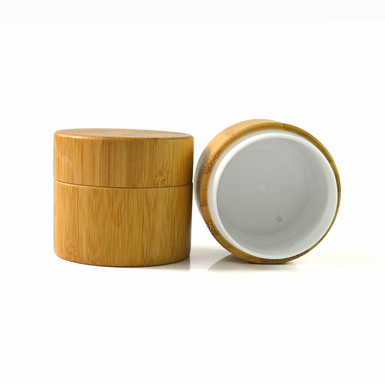 50g round wooden & bamboo cream jar for cosmetic packaging