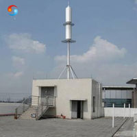 Rooftop Steel Monopole Tower / China Telecommunication Tower for sale