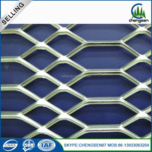 Decorative expanded metal grill mesh for outdoor building