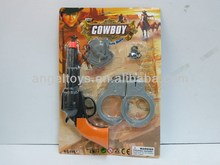 plastic cowboy play set toys for kids