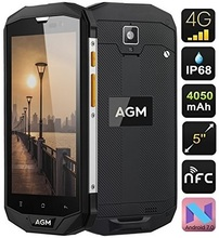 AGM A8 Unlocked phone 5 inch HD screen 3GB 32GB Android 7.0 Nougat Rugged GPS NFC Phone with big battery