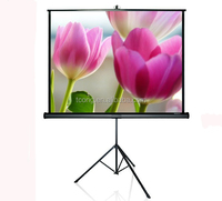 4:3 easy move portable projection screen tripod screen
