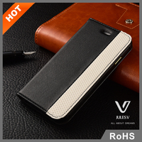 High quality luxury portable flip cover leather case for iphone 6