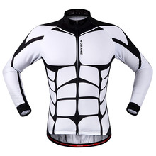 Men's cheap wholesale cycling clothing Long Sleeve Outdoor Sports Bicycle Riding Clothes polyester jersey