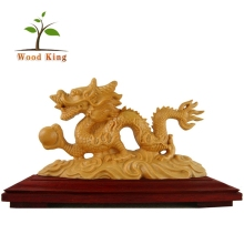 Wholesale Wood Arts And Crafts Carving Household Geomantic Chinese Dragon Decorations Models Sculpture Wooden Dragon