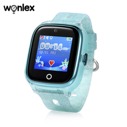 Wonlex Latest design android silicone wristband strap kids gps touch screen watch smart mobile phone