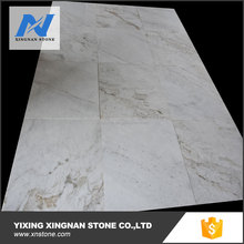 China snow white marble tile,white ground marble tile,beautiful pattern marble tile