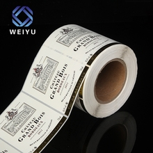High Quality Multi Color Custom Fashional Grape Wine Roll Adhesive Label