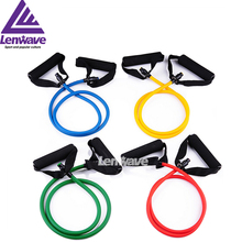 2016 lenwave latex hot selling fitness body building exercise pull rope