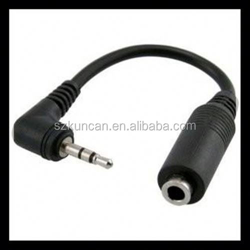Phone jack stereo 3.5mm connector Gold Stereo 3.5 to Stereo 2.5 Audio Male to Male Cable