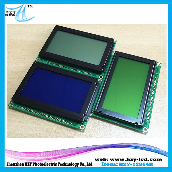 128 x 64 Graphic LCD modules China LCM Module Graphic 12864 (HZY12864B)