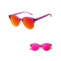 High quality comfortable half rim popular sunglasses