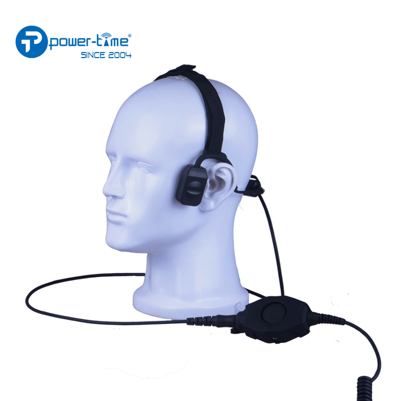 Tacticle Bone Conduction Headset for two way radio Sepura STP8000,STP9000