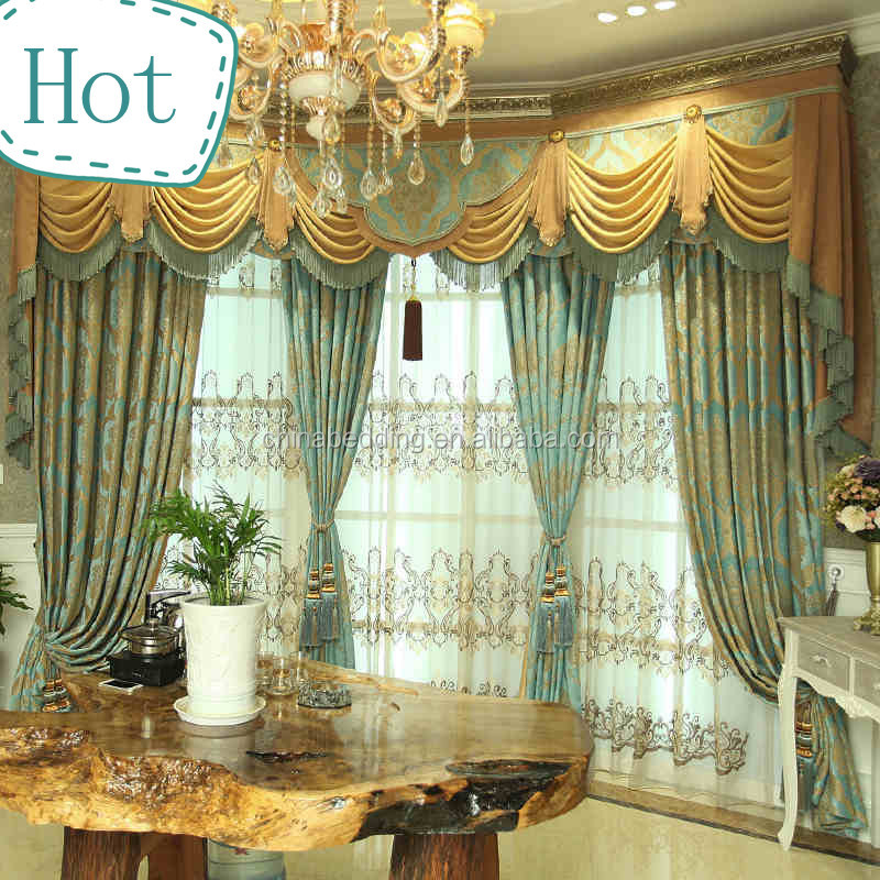 HOT SELLING new fancy living room window curtain fabric/Christmas curtain