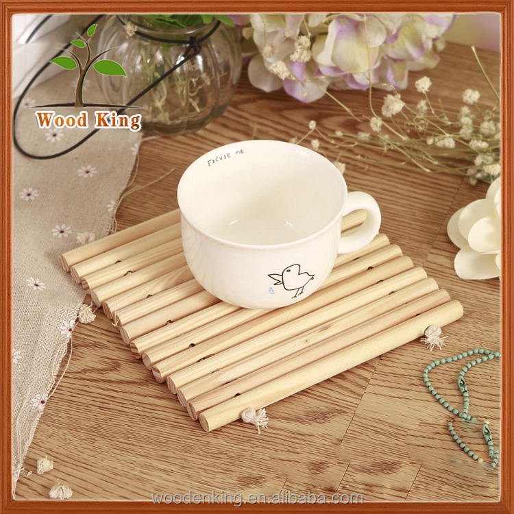 Yiwu Market Products Solid Wood Cup Pad Beaded Placemats