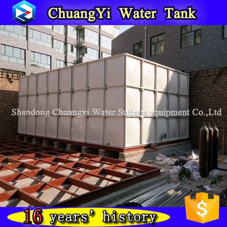 sectional panelized water tank with GRP/FRP SMC material square type