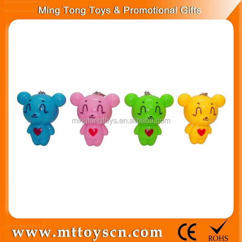 New style cheap mini size bear keychain toy