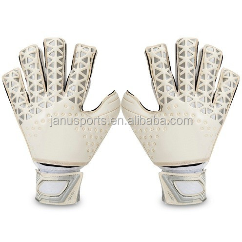 Professional Association Football Gloves WoWEN-3085W# Natural latex goalkeeper gloves