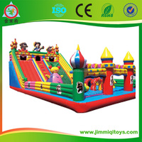 2015 Newly Cartoon design children jumping castle for sale,bouncy castle combo with slide