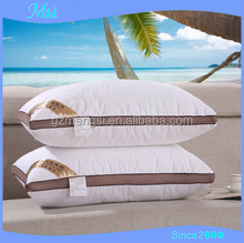 Wholesale Standard Size White Cotton 100 Polyester Fiber Hotel Pillow For Hotel Bedding Set