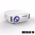 Cheerlux Newest C6 mini projector best for home games fun with HDMI USB TV VGA headphone