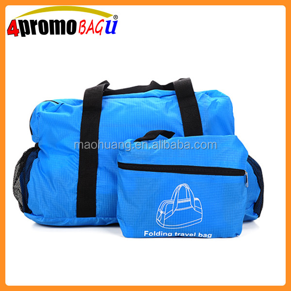 New style cheap promotion foldable travel bag folding duffle bag