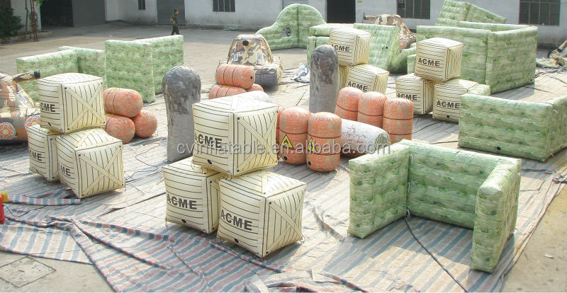 Factory direct inflatable paintball bunkers, inflatable airsoft bunkers, inflatable speedball bunkers