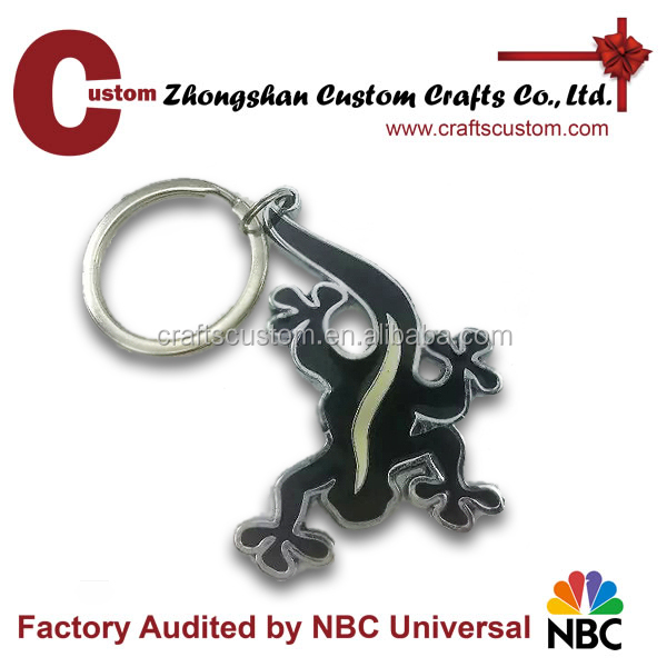 Promotional lizard with luminous Souvenir keychains as gift sales