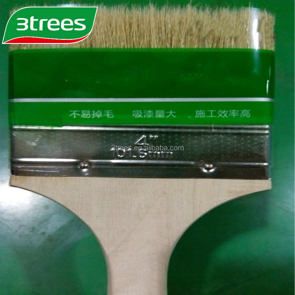 3TREES High quality white wooden handle paint <strong>brush</strong>