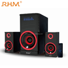 stereo speaker 2.1 multimedia speaker with FM radio/USB/SD/Remote control/ LED display