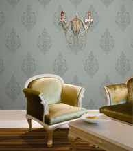 High quality country fllower PVC heavy deep embossed hot new wallpapers modern house design
