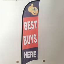 Custom advertising promotion feather flag flying flag and banners
