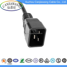 Factory Price 3 Pin IEC C20 to IEC C19 Male and Female Extension Plug