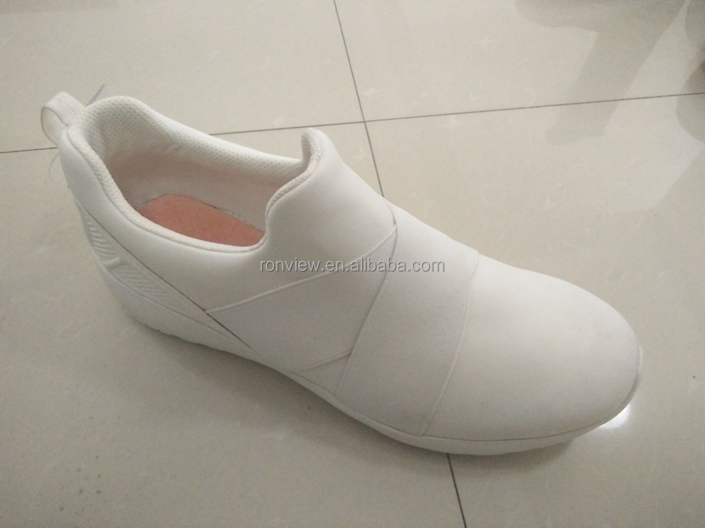 men sport shoes sneaker casual shoes with TPR sole white shoes