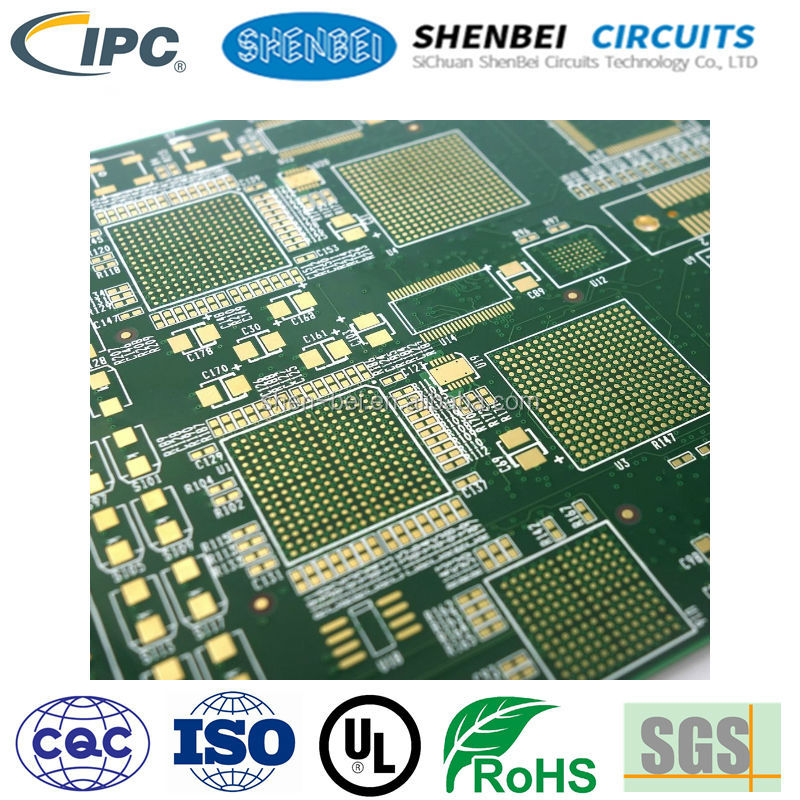 SHENBEI OSP HAL HASL LF ENIG aluminum rigid Multilayer PCB high TG impedance Rogers PCB Double Layer PCB