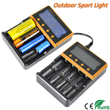 Boruit C4 LCD Display Intelligent Multifunctional Battery Charger Li-ion/Ni-MH Universal Charger