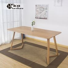 manufacturer solid wood material popular classic design 4 seater wood dining table