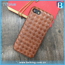 Hot Sale Newest Soft Knitted Pattern Leather Case for iPhone 7 Plus, Hard Leather Back Cover Case for iPhone7