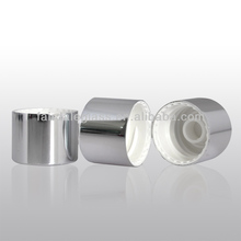 18mm gross silver color aluminum metal screw over caps