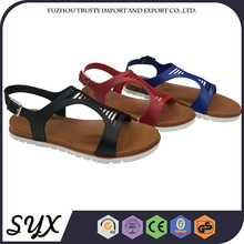 Brown Plastic Flat Sexy Beach Walk Latest Lady Slipper Shoe And Sandal