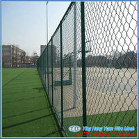 pvc tension wire chain link fence (BV certification factory)