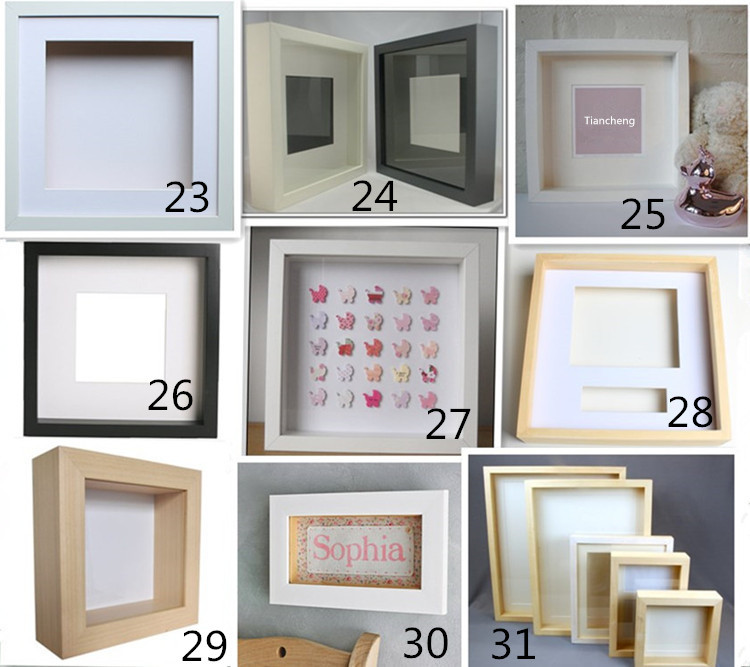 4x6 Acrylic Frameless Clip Picture Frames / Wooden Shadow Box / Wood ...